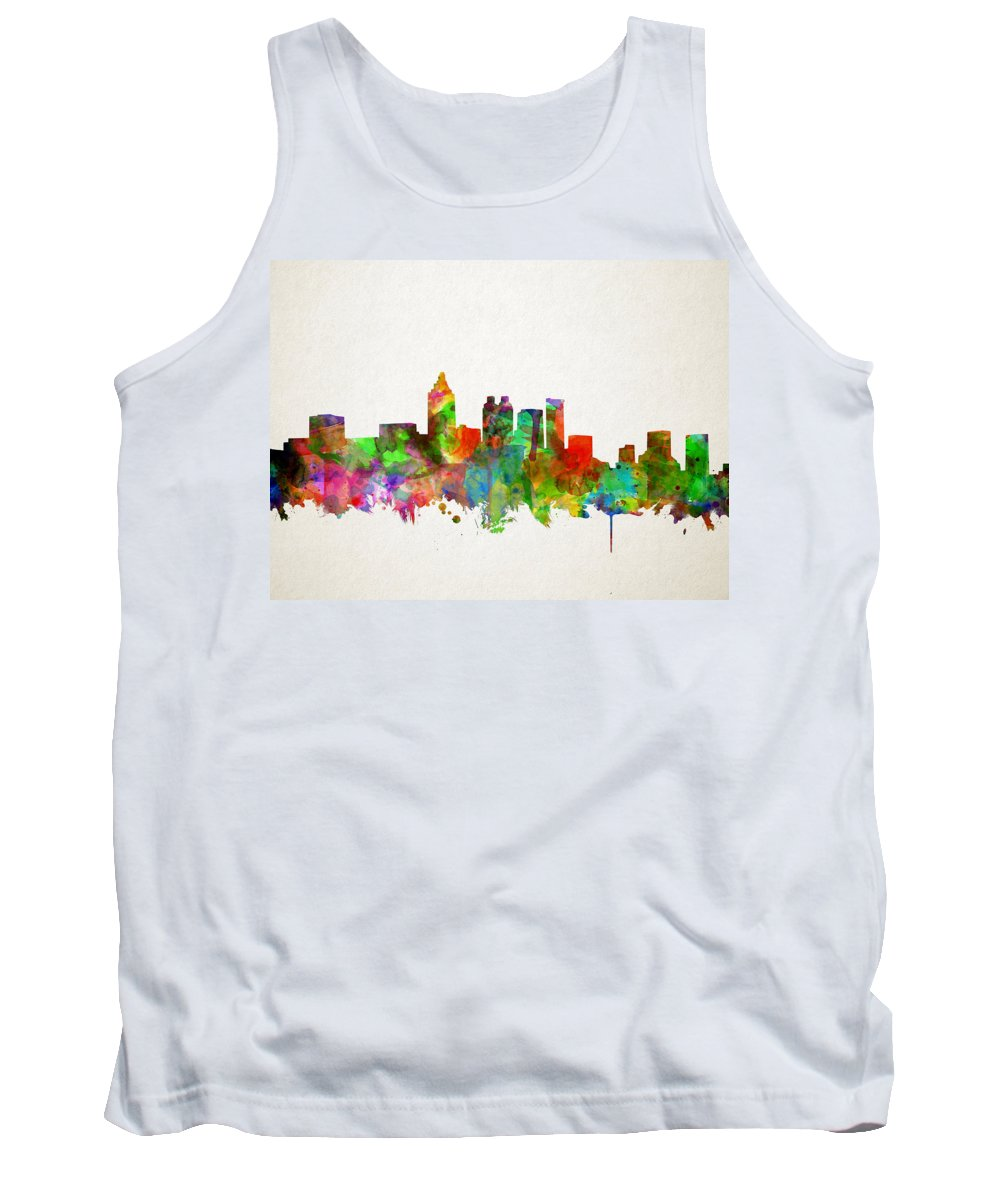Atlanta Tank Top featuring the painting Atlanta Skyline Watercolor by Bekim Art