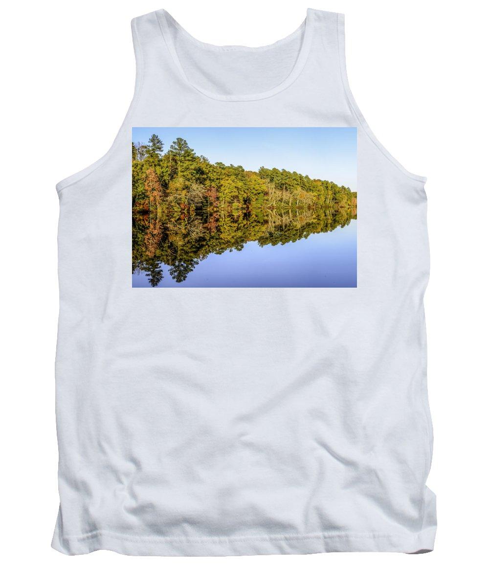 Autumn Tank Top featuring the photograph Autumn Reflection by Gary Mosman