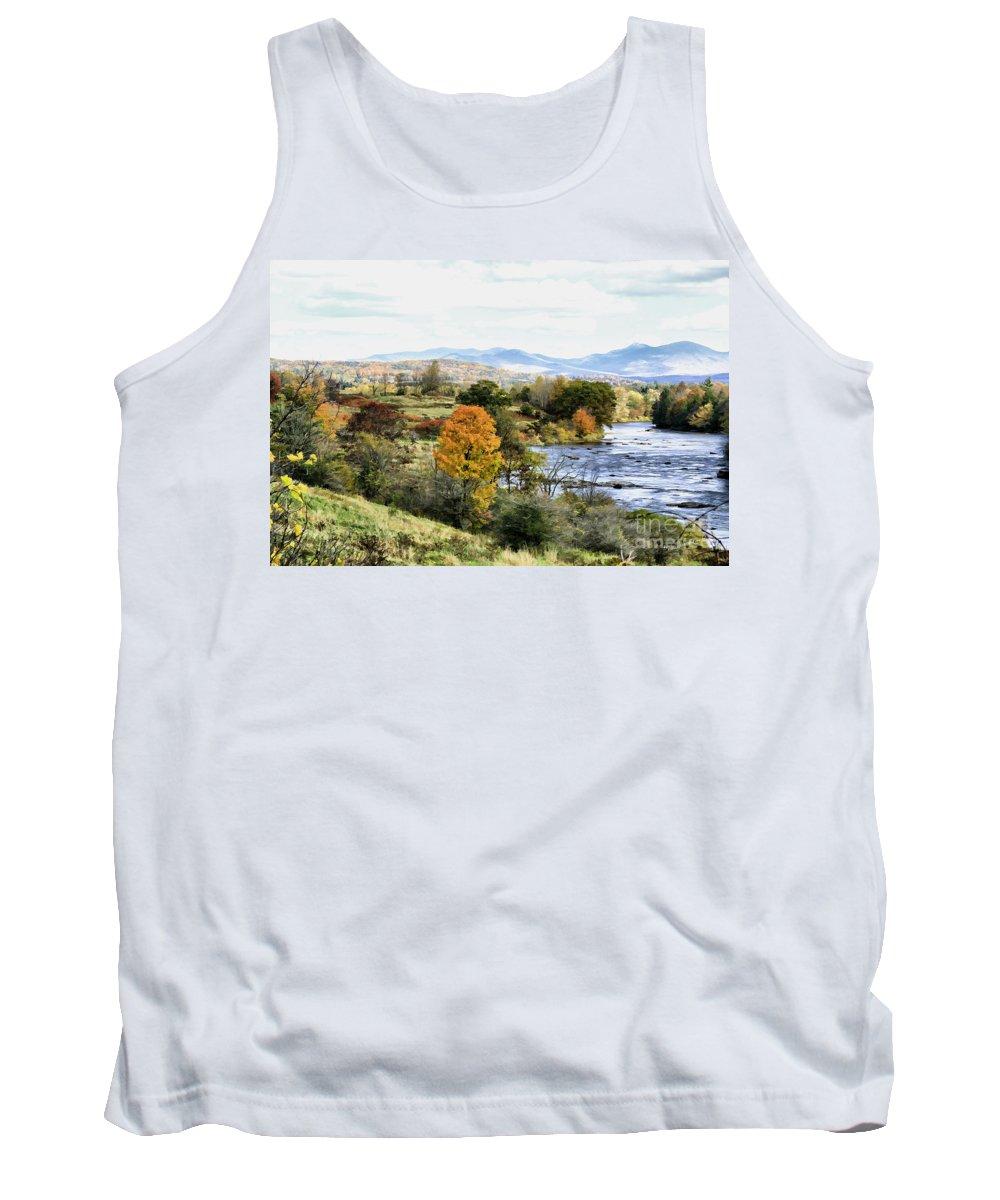 Autumn Tank Top featuring the photograph Autumn Rural Scene by Deborah Benoit