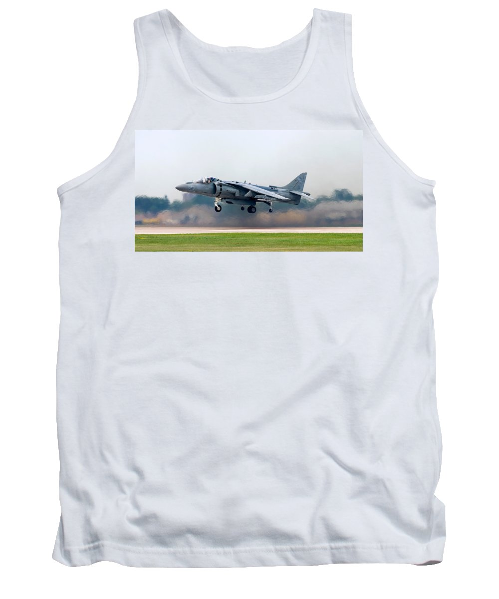 3scape Tank Top featuring the photograph Av-8b Harrier by Adam Romanowicz