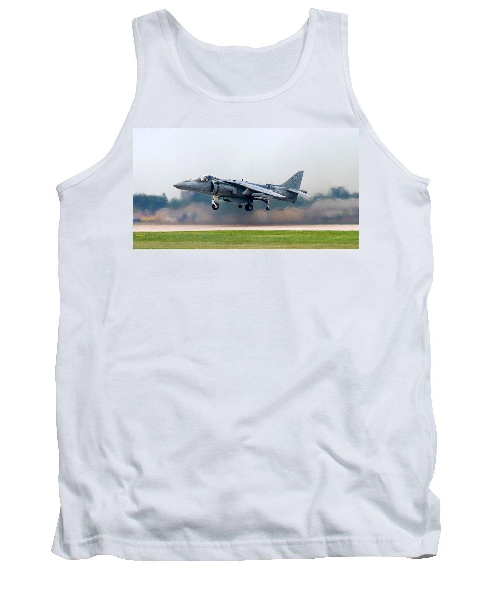 3scape Photos Tank Top featuring the photograph Av-8b Harrier by Adam Romanowicz