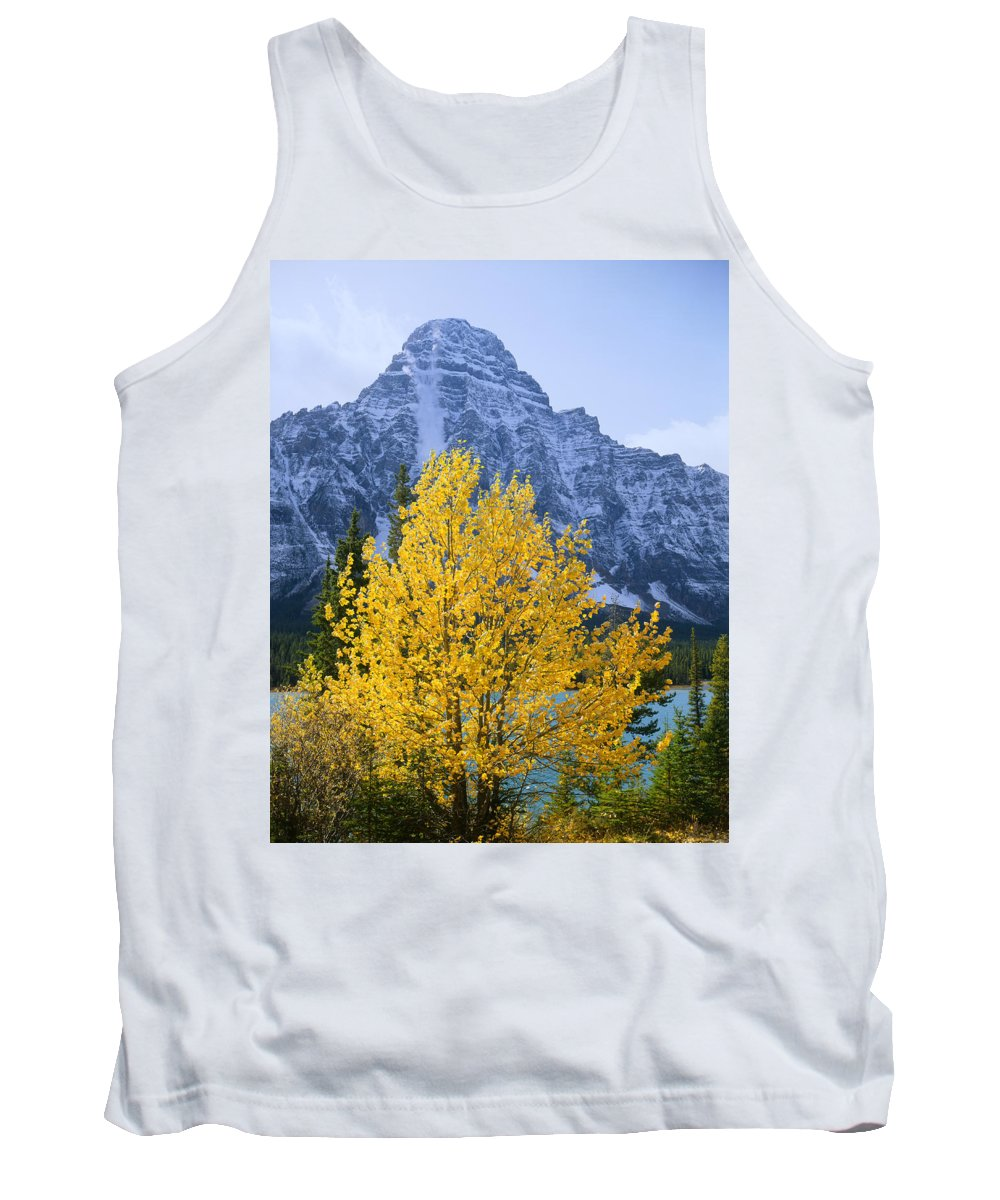 Avalanche Tank Top featuring the photograph 1m3634-02-avalanche In Progress On Mt. Chephren by Ed Cooper Photography