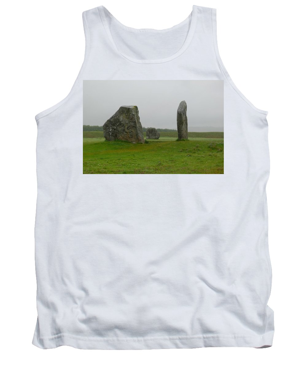 Avebury Tank Top featuring the photograph Avebury's Cove Stones by Denise Mazzocco