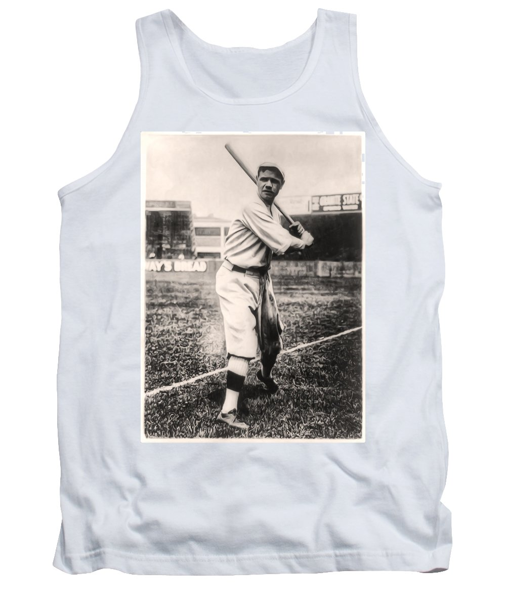 Babe Ruth Tank Top featuring the photograph Babe Ruth by Bill Cannon