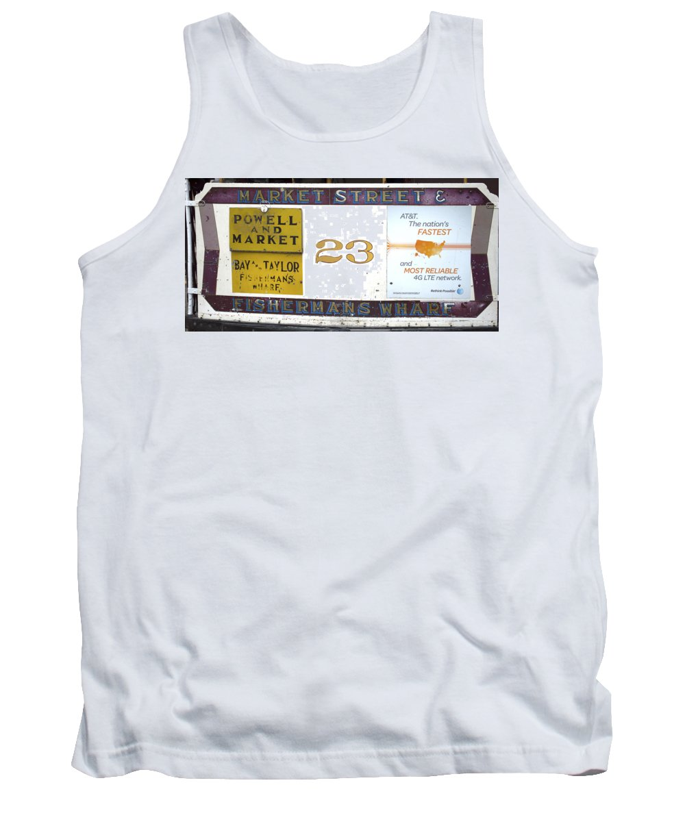 Photograph Tank Top featuring the photograph Back Of The Cable Car by Christopher Winkler