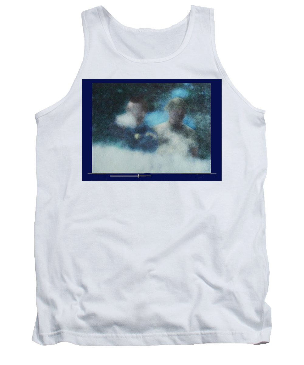 Badgeman Man Grassy Knoll Dallas Texas Color Added Tank Top featuring the photograph Badgeman Man Grassy Knoll Dallas Texas 1963-2012 by David Lee Guss