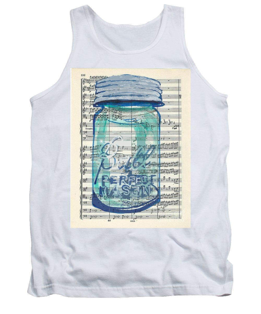 Vintage Tank Top featuring the painting Ball Jar Classical #132 by Ecinja Art Works