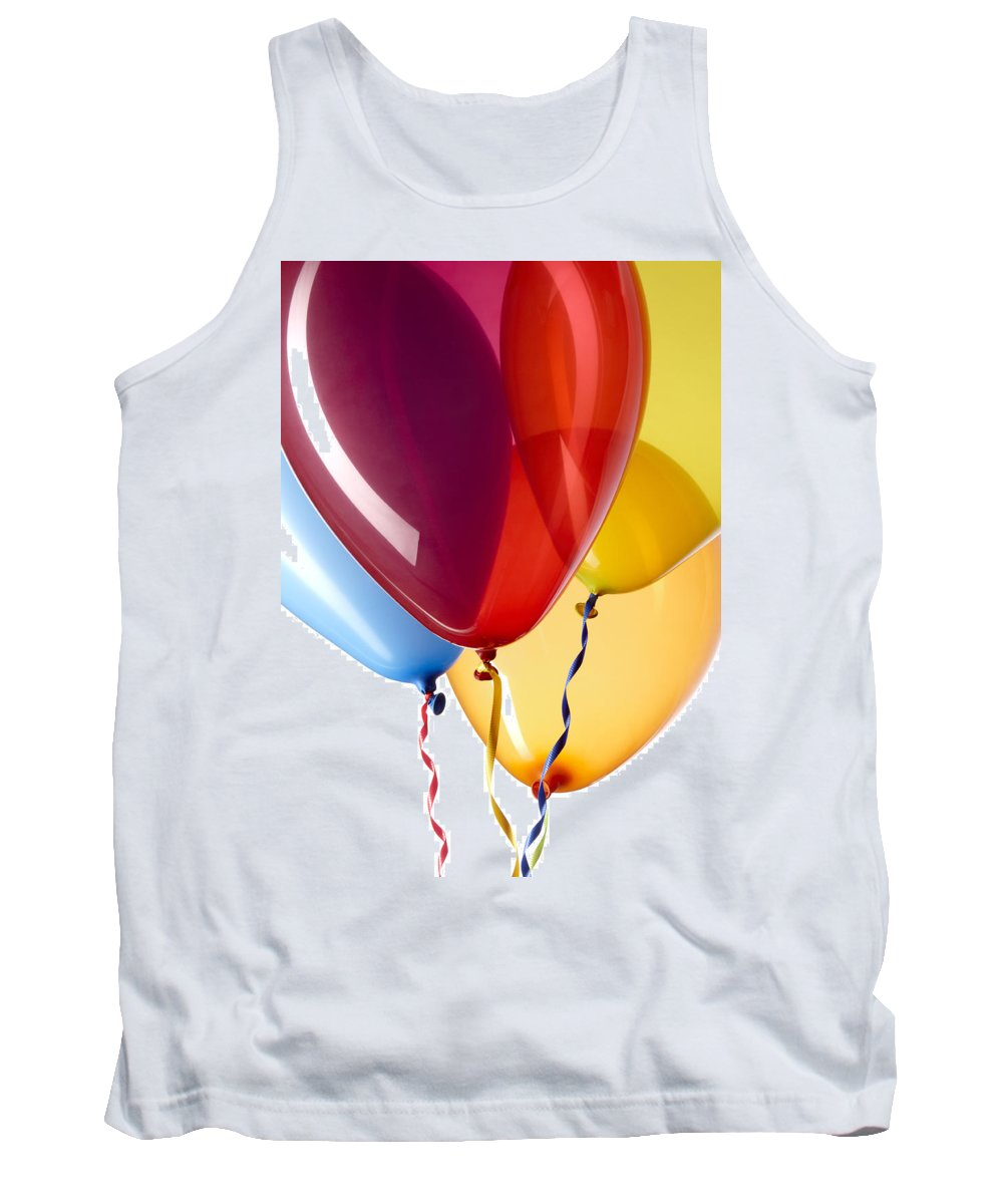 Balloons Tank Top featuring the photograph Balloons by Daniel Troy