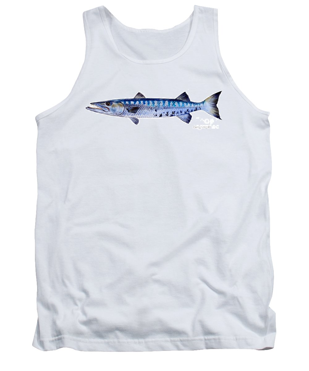 Barracuda Tank Top featuring the painting Barracuda by Carey Chen