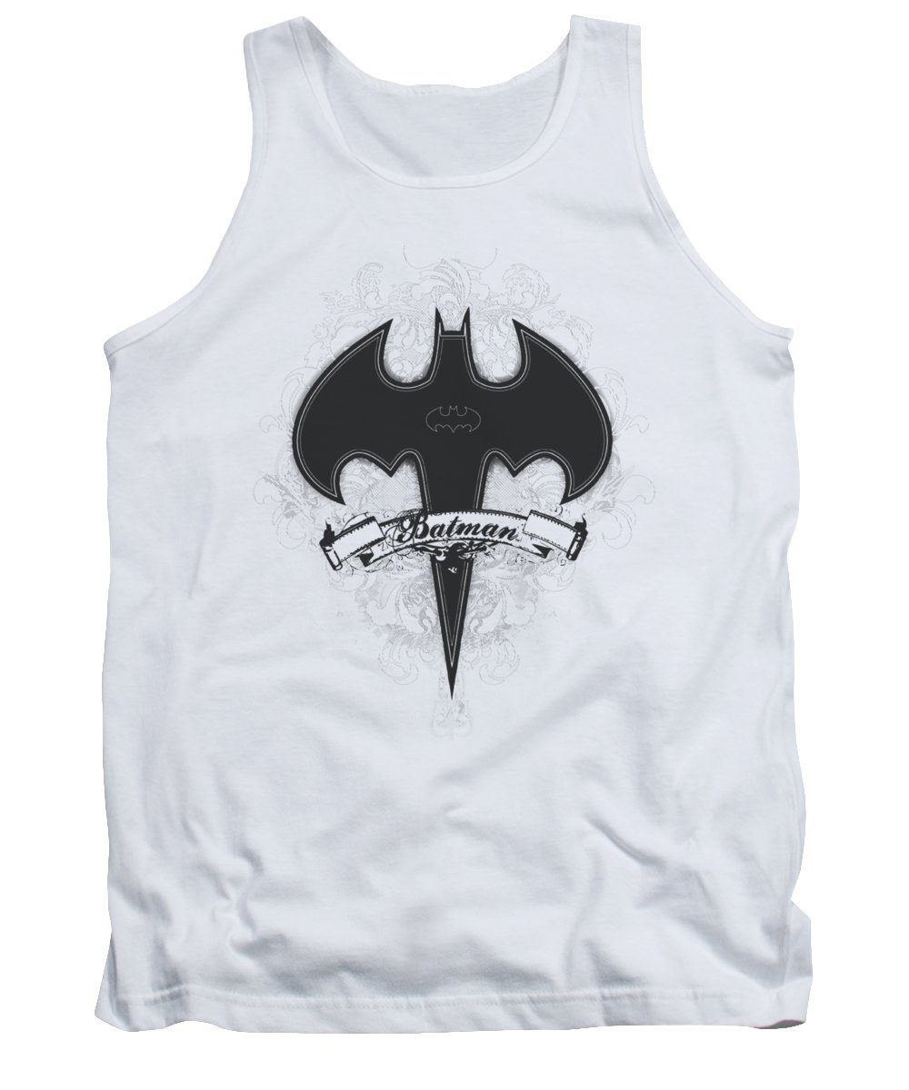 Batman Tank Top featuring the digital art Batman - Gothic Gotham by Brand A