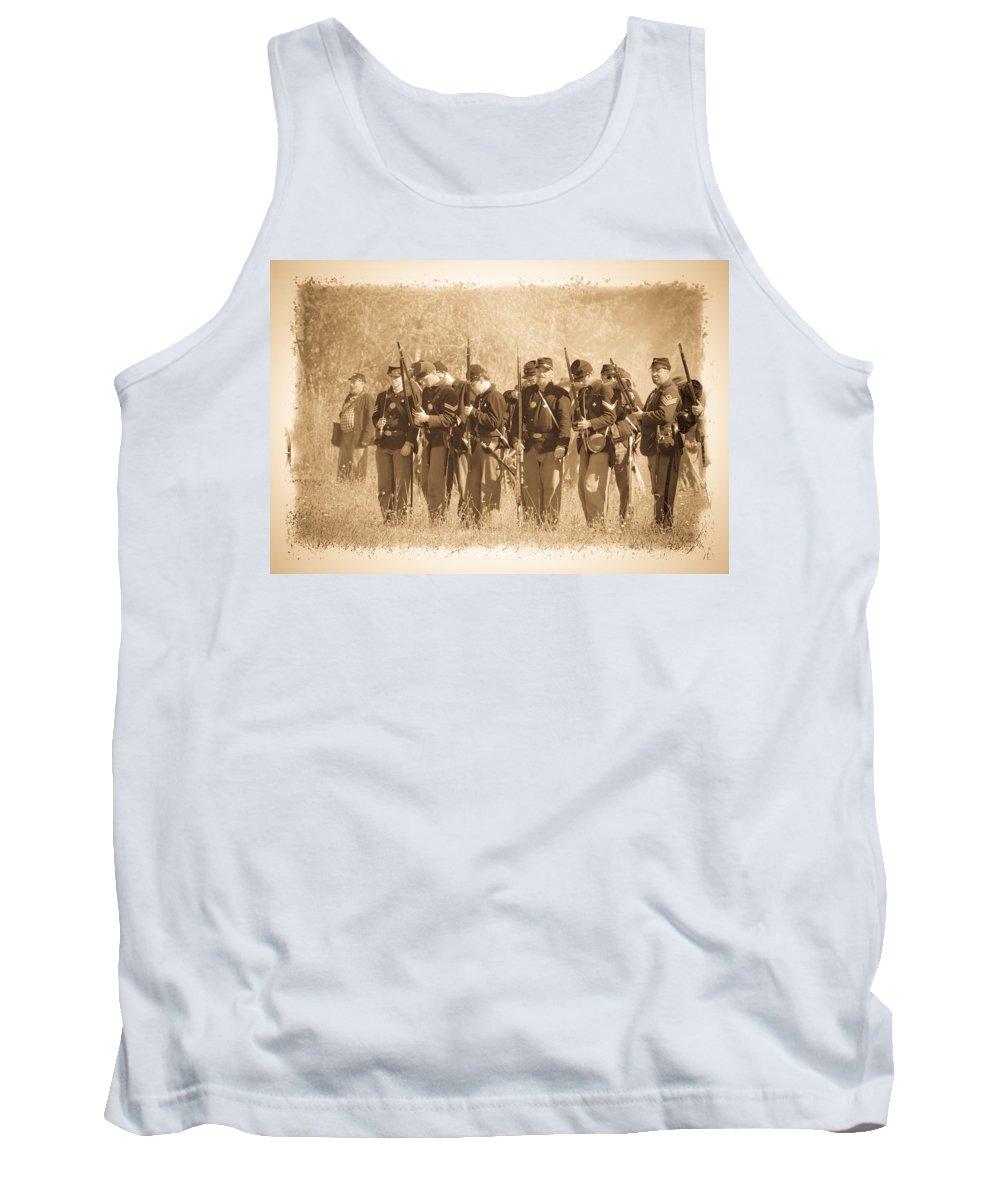 Civil War Tank Top featuring the photograph Battle Ready by Steve McKinzie