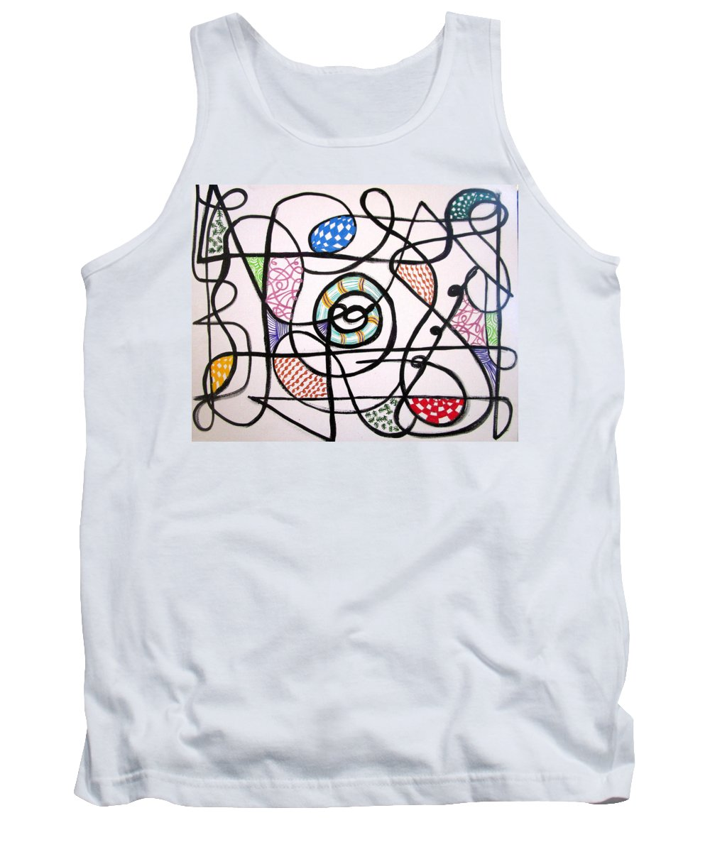 Abstract Tank Top featuring the painting Be Gentle by Mataji Villareal - Sharma