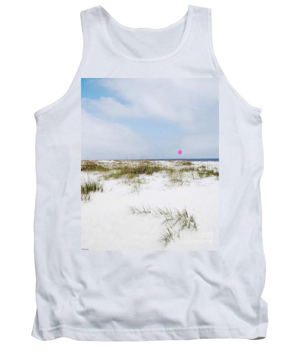 Beach Tank Top featuring the digital art Beach Ball by Lizi Beard-Ward