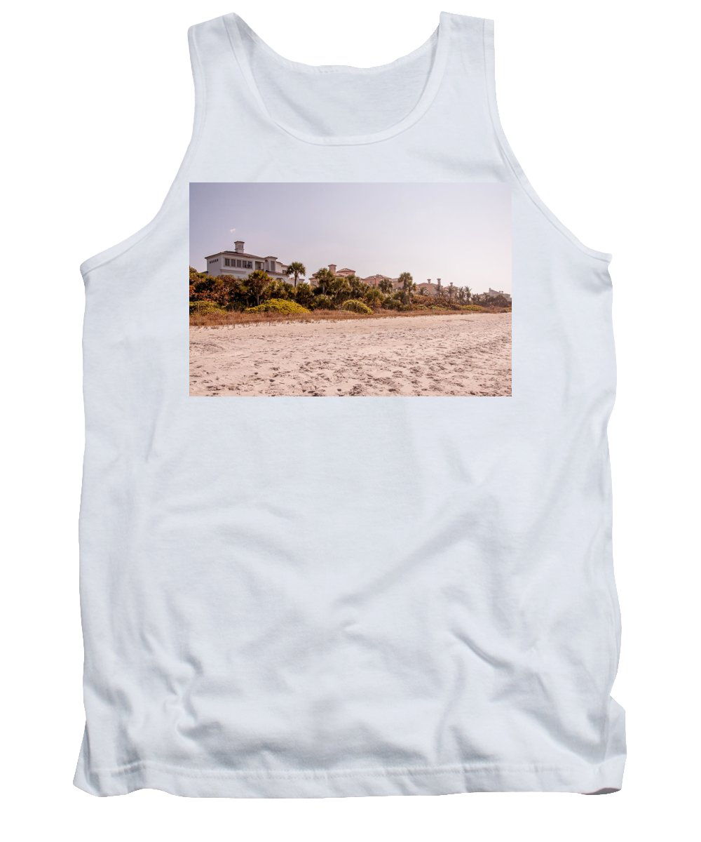 Luxuries Tank Top featuring the photograph Beach Homes by Amel Dizdarevic