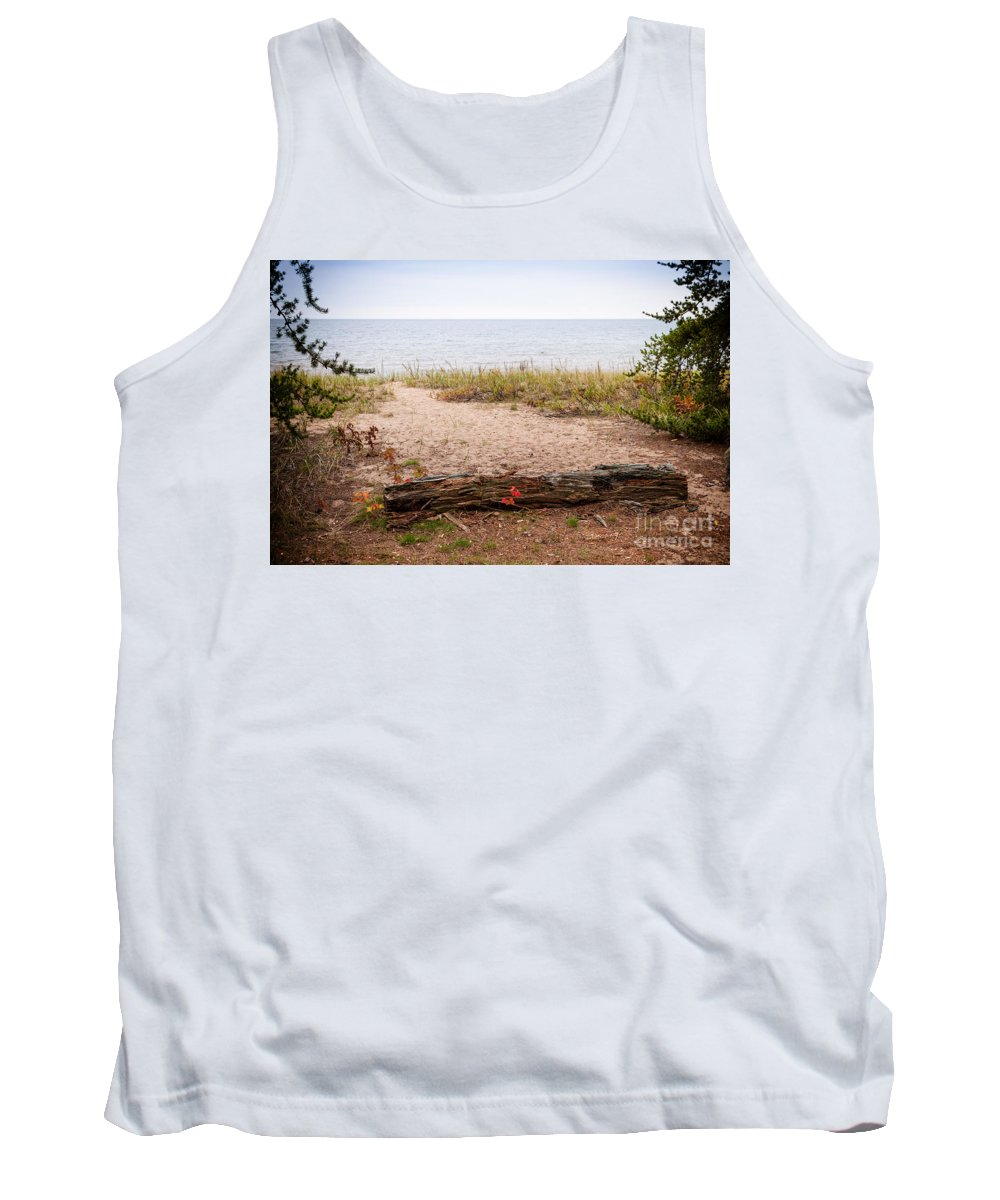 North Tank Top featuring the Beach Path by Les Palenik