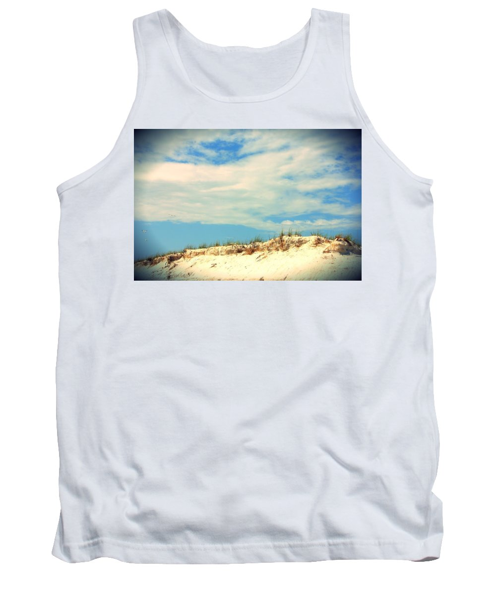 Gulf Tank Top featuring the photograph Beach Sky by May Photography