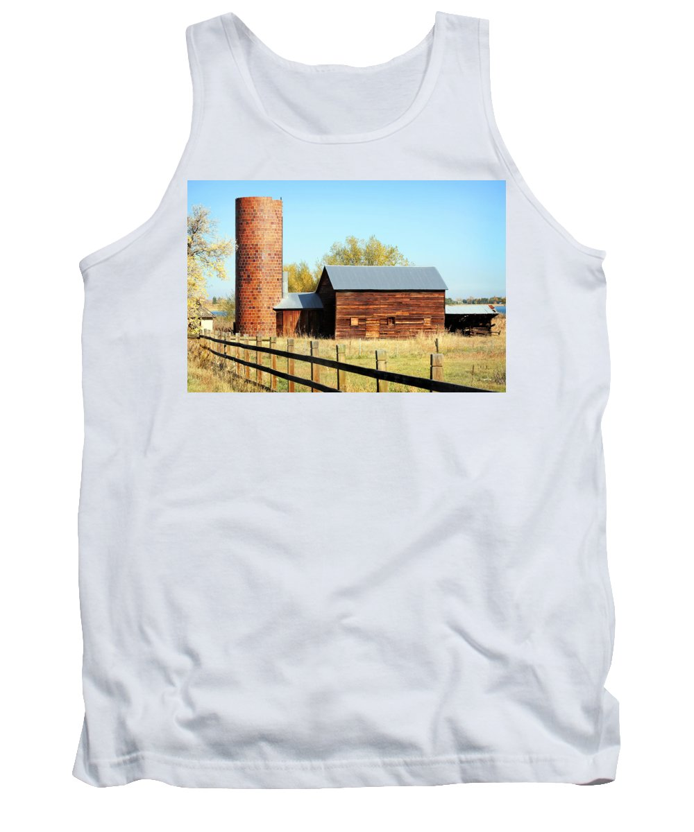 Americana Tank Top featuring the photograph Beautiful Brick Silo by Marilyn Hunt