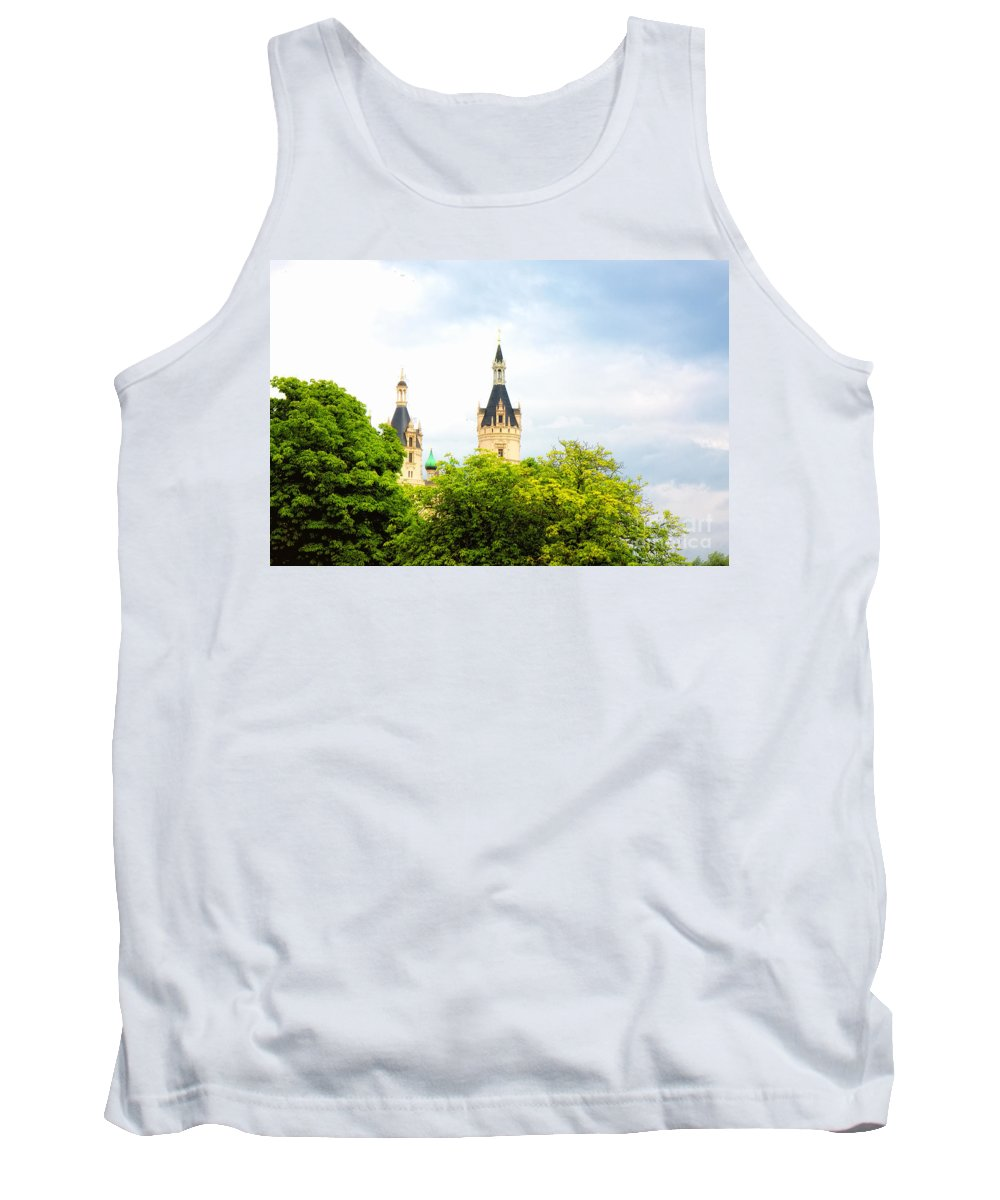 Green Tank Top featuring the photograph Beautiful Schwerin Castle by Jan Brons