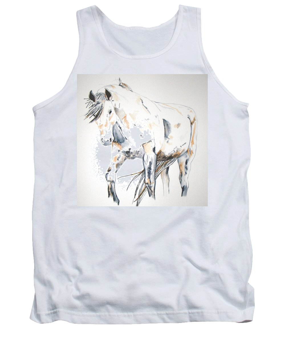 Horse Tank Top featuring the painting Beauty by Crystal Hubbard