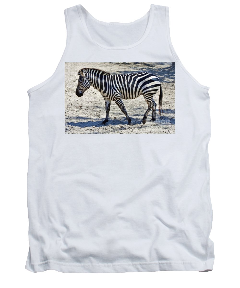 Zebra Tank Top featuring the photograph Beauty In Black And White by D Hackett