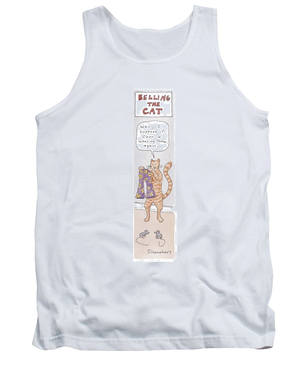 Belling The Cat 'well Tank Top featuring the drawing Belling The Cat 'well by Danny Shanahan