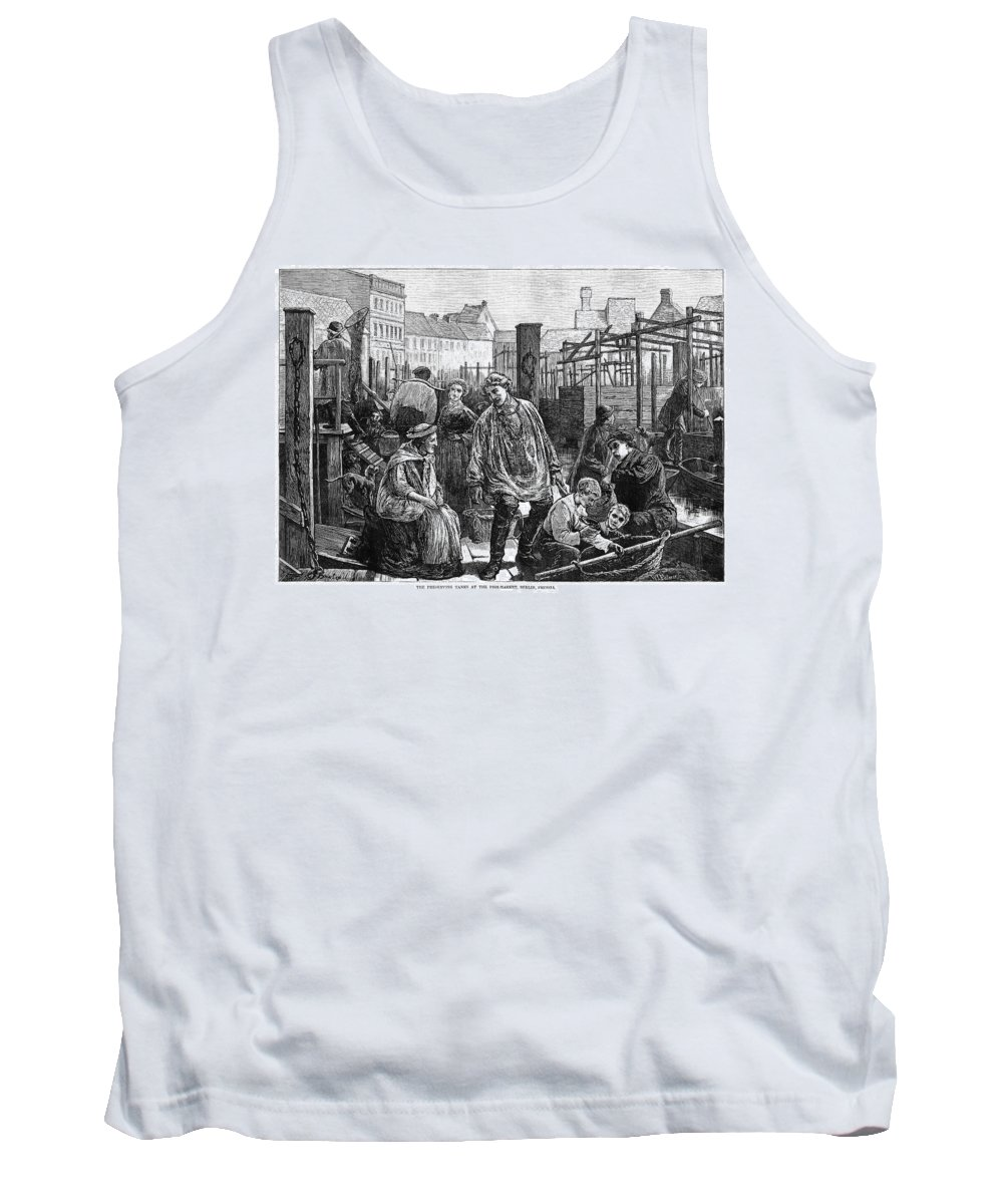 1874 Tank Top featuring the painting Berlin Fish Market, 1874 by Granger