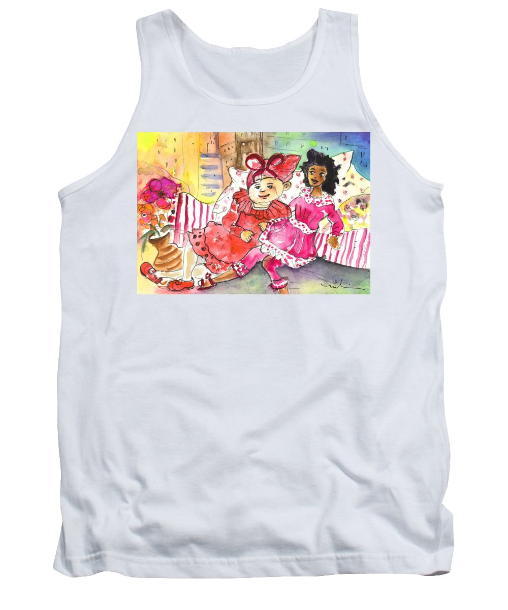 Travel Tank Top featuring the painting Best Friends For Ever by Miki De Goodaboom