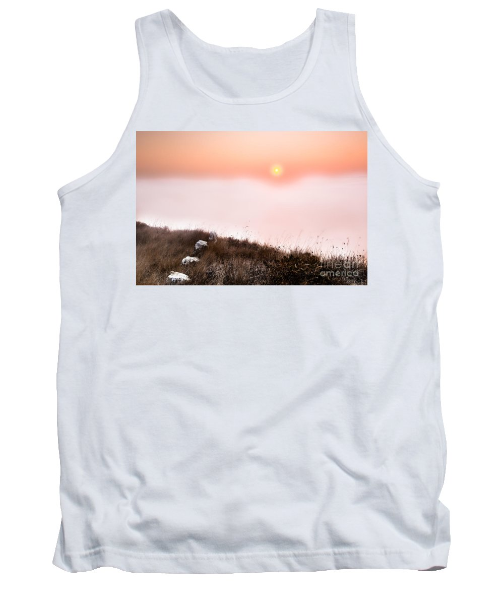 Sunrise Tank Top featuring the photograph Between Rocks And The Sunrise by Edgar Laureano