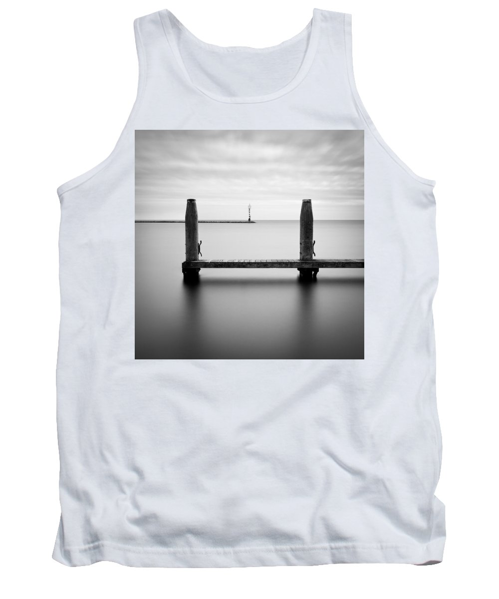 Boat Jetty Tank Top featuring the photograph Beyond The Jetty by Dave Bowman