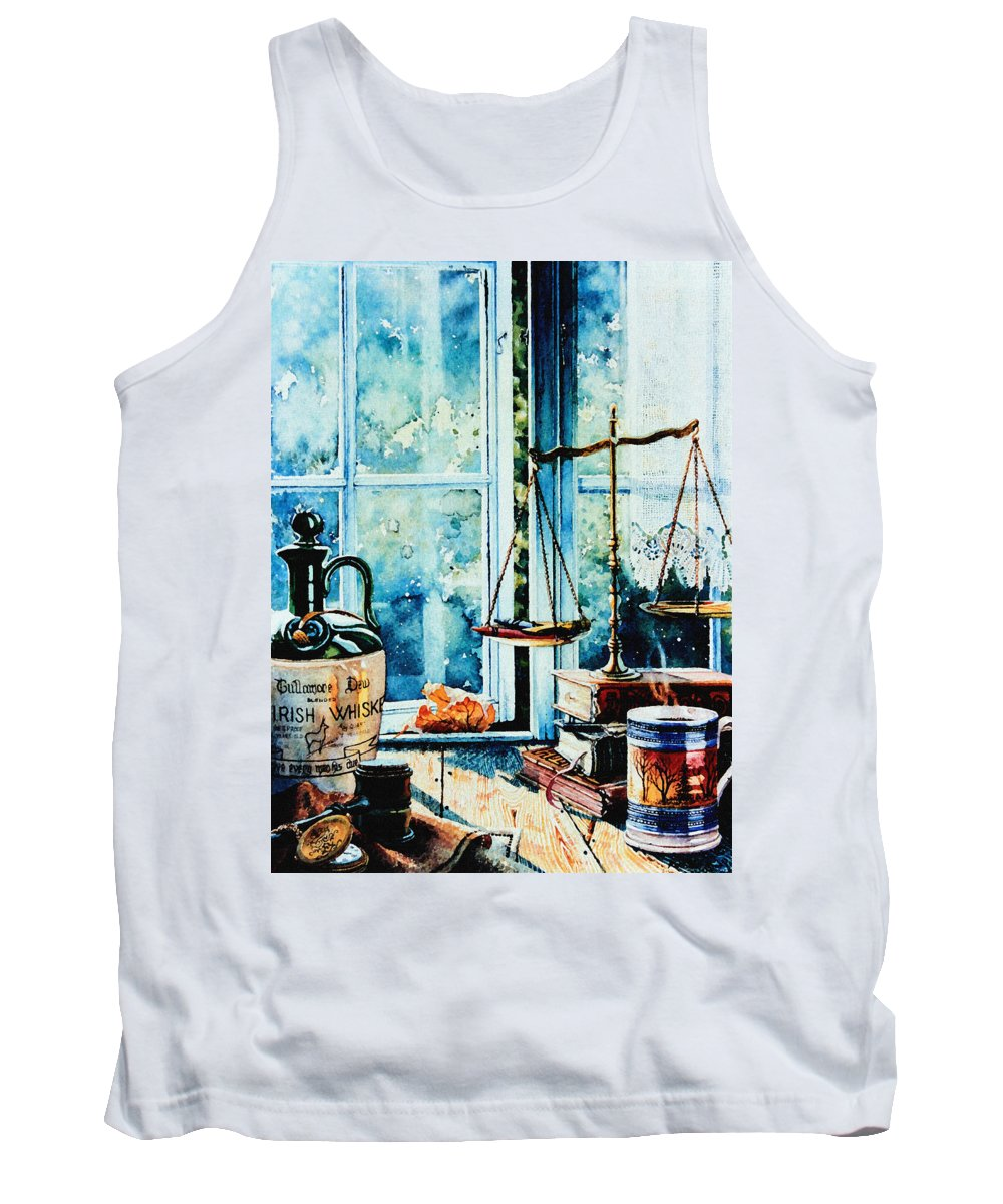 Beyond The Shadow Of Doubt Tank Top featuring the painting Beyond The Shadow Of Doubt by Hanne Lore Koehler