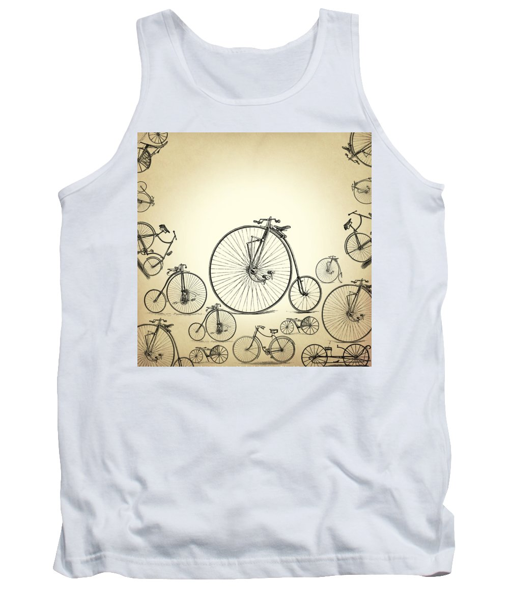 Bicycle Tank Top featuring the digital art Bicycle by Mark Ashkenazi