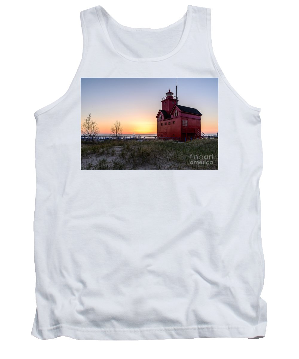 Landscape Tank Top featuring the photograph Big Red Lighthouse by Patrick Shupert
