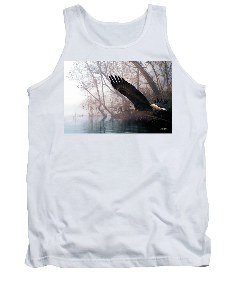 Eagles Tank Top featuring the mixed media Bilbow's Eagle by Bill Stephens