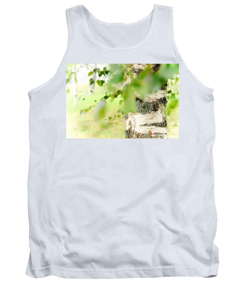Birch Tank Top featuring the photograph Birch Tree. The Soul Of Russian Nature by Jenny Rainbow