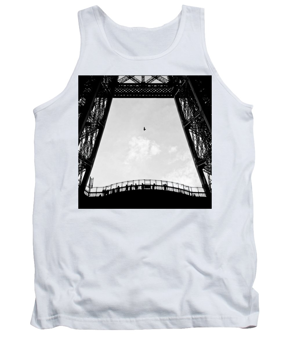 Eiffel Tower Tank Top featuring the photograph Birds-eye View by Dave Bowman