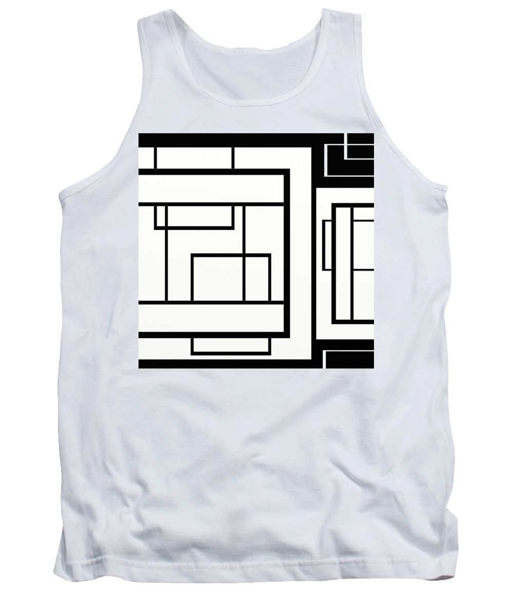 Black And White Designs Tank Top featuring the digital art Black And White Art - 154 by Ely Arsha