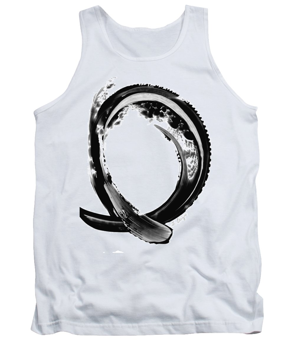 Black And White Tank Top featuring the painting Black Magic 309 By Sharon Cummings by Sharon Cummings