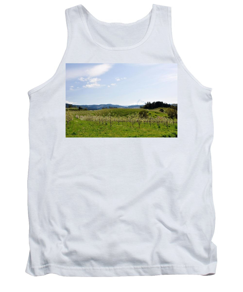 Mount Hood Tank Top featuring the photograph Blossoms In Spring by Image Takers Photography LLC - Laura Morgan