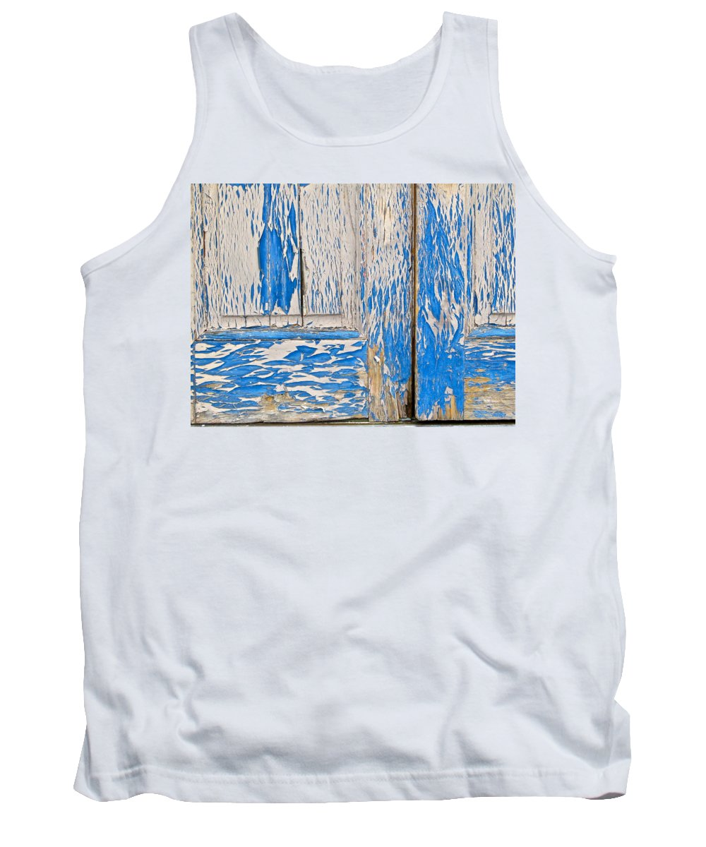 Blue Tank Top featuring the photograph Blue Doors by Mike Reilly