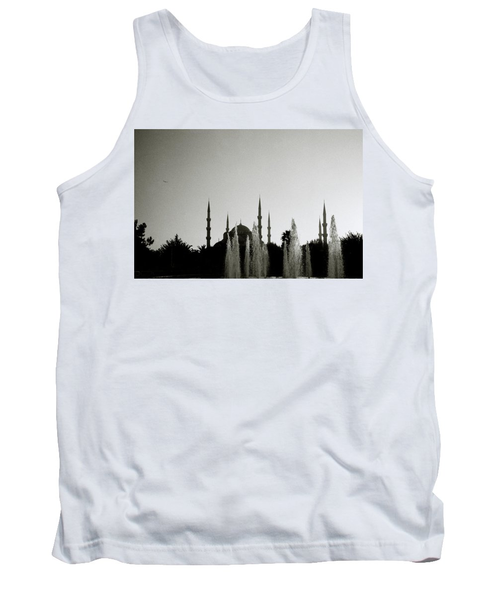 Istanbul Tank Top featuring the photograph Blue Mosque Dusk by Shaun Higson