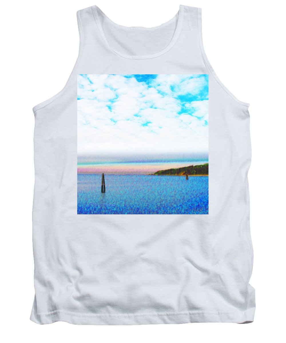 Impressionist Tank Top featuring the photograph Blue Sky Dreaming by Del Gaizo