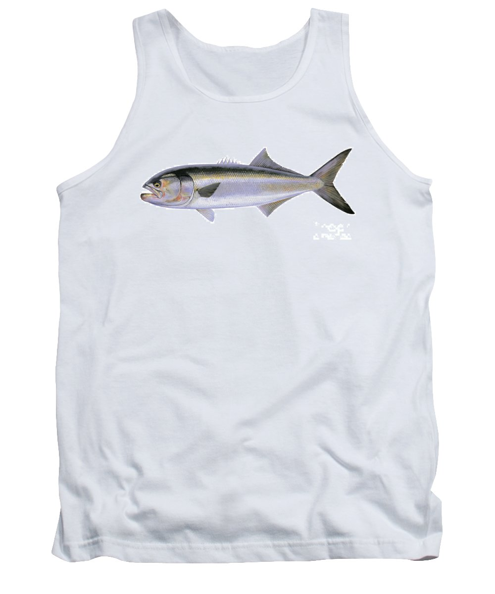 Bluefish Tank Top featuring the painting Bluefish by Carey Chen