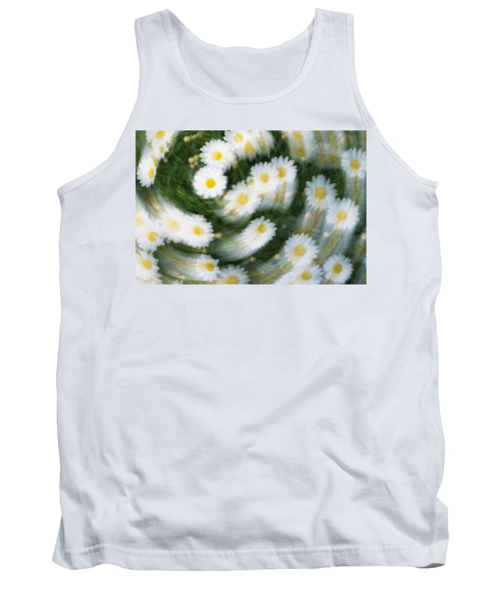 Daisy Tank Top featuring the photograph Blurred Daisies by Chevy Fleet