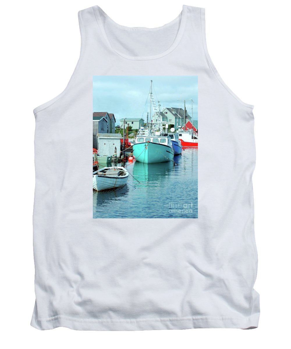 Boat Tank Top featuring the photograph Boating In The Village by Kathleen Struckle