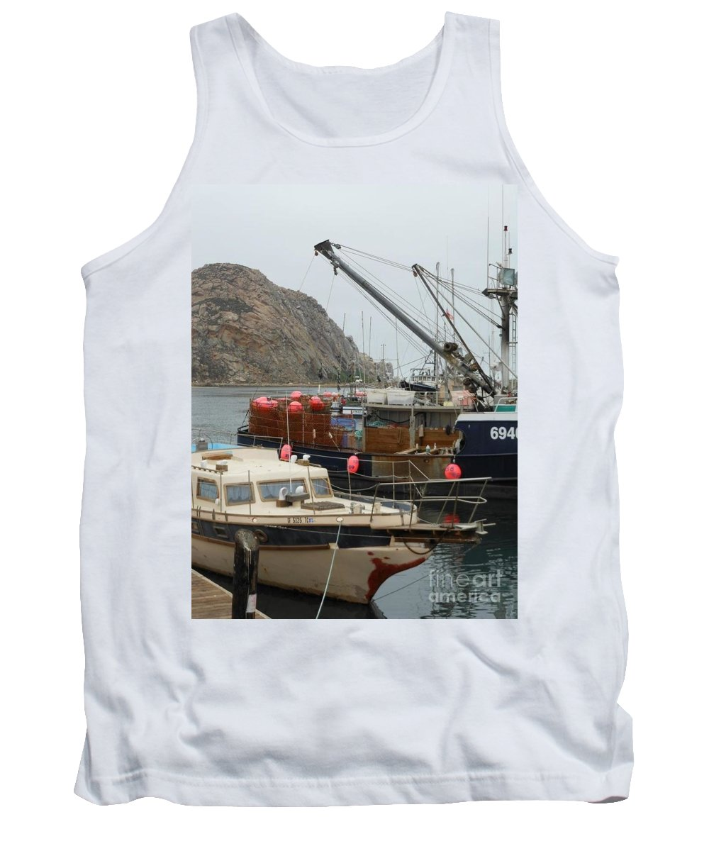 Ships Tank Top featuring the photograph Boats On Morro Bay by Charlotte Stevenson