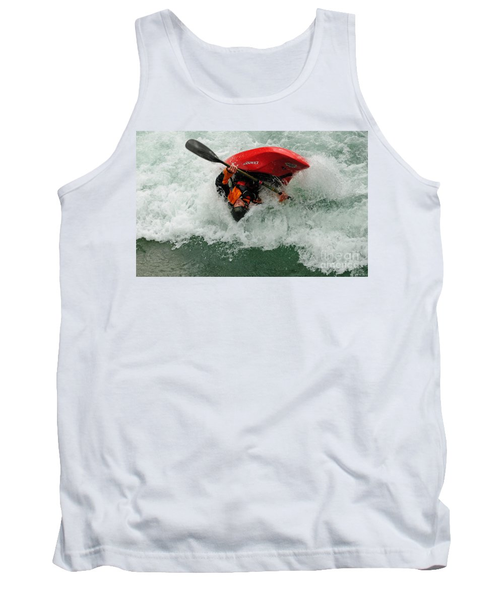 Kayaking Tank Top featuring the photograph Bottoms Up by Vivian Christopher