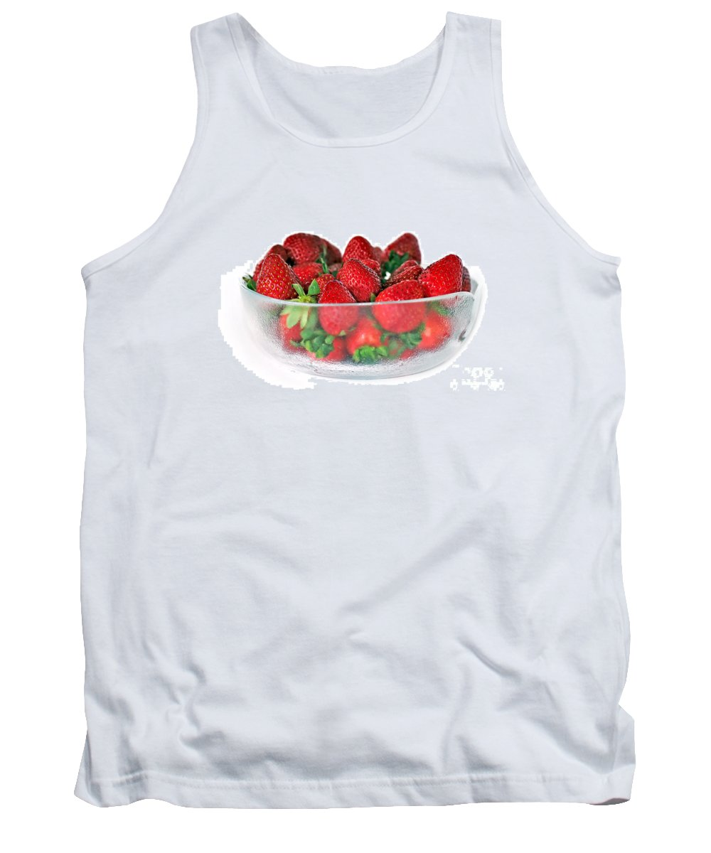 Photography Tank Top featuring the photograph Bowl Of Strawberries by Kaye Menner