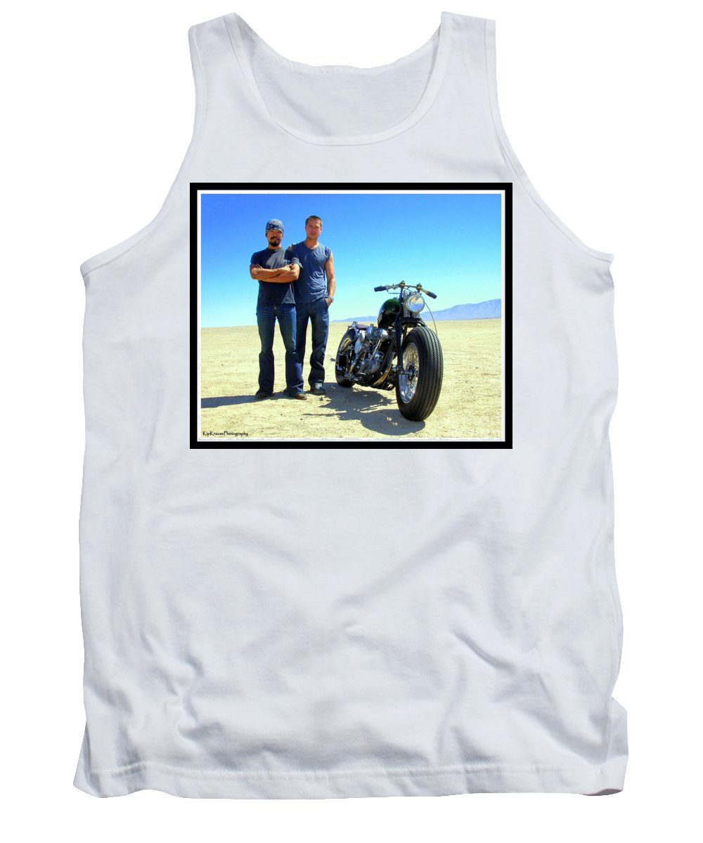Brad Pitt Tank Top featuring the photograph Actor - Brad Pitt With Shinya Kimura by Kip Krause