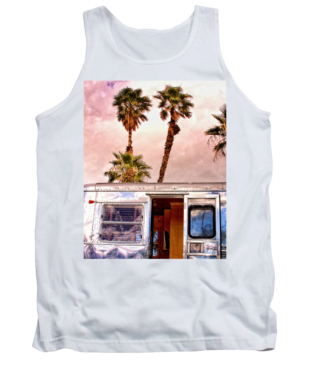 Airstream Tank Top featuring the photograph Breezy Palm Springs by William Dey