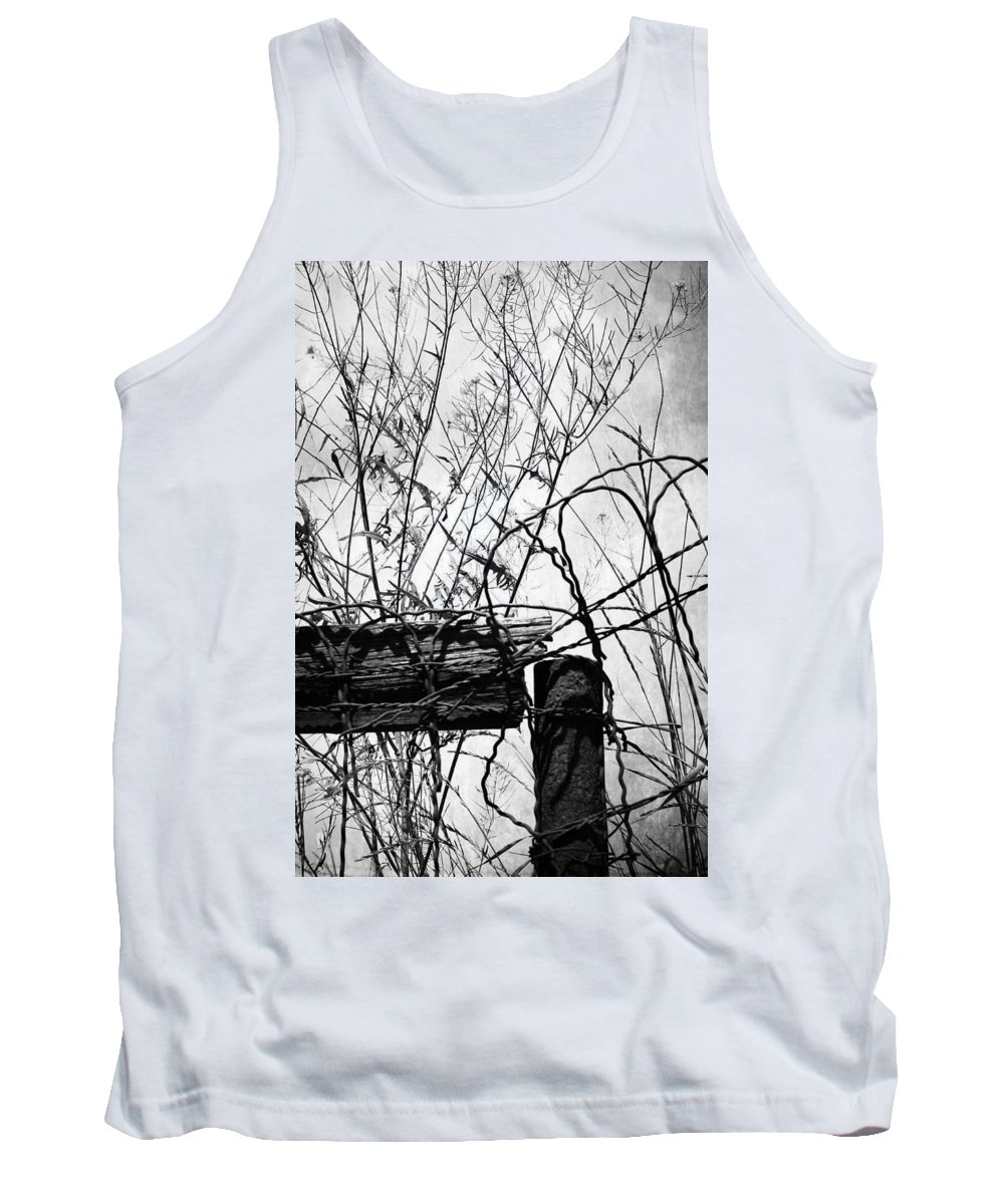 Fence Tank Top featuring the photograph Broken Devils by The Artist Project